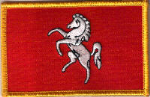 Kent Embroidered Flag Patch, style 08.